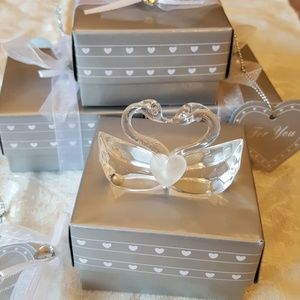 Other - 4 Led Crystal Swans. Love gifts, favor. Wedding.